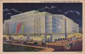 Missouri Kansas City Municipal Auditorium By Night