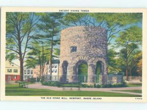 Unused Linen VIKING TOWER Newport Rhode Island RI H5226