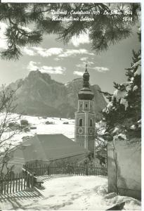 Italy, Dolomiti, Castelrotto, 1956 used real photo Postcard