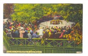 Lion Show, Forest Park Zoo, St Louis, Missouri, 30-40s