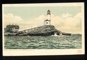 Isle Of Shoals, New Hampshire/NH Postcard, White Island Light/Lighthouse