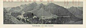 PANORAMA von BAD-FUSCH AUSTRIA~HOTEL GRIMM zur POST-1900s DOUBLE POSTCARD