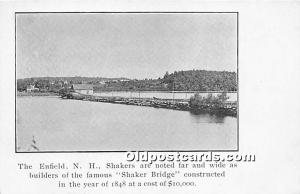 Old Vintage Shaker Post Card The Enfield New Hampshire Bridge constructed in ...