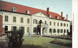 Archbishop's Palace, New Orleans, Louisiana, Early Postcard, Unused
