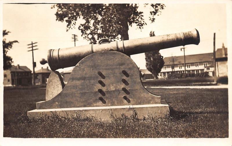 Sackets Harbor New York~Madison Barracks~Old War Cannon~c1920 Real Photo~RPPC