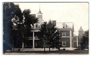 RPPC URBANA-CHAMPAIGN, IL ~ University BUILDING on CAMPUS c1910s  Postcard