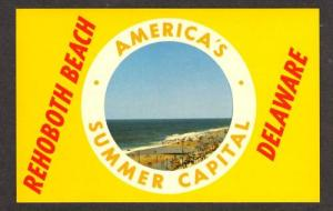 DE View of Rehoboth Beach in DELAWARE Postcard PC