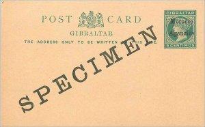 Entier Postal Stationery Postal Britain Great Britain Morocco Specimen