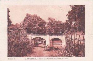 Belgian Congo Mayumbe Pont du Chemin de fer a Luki
