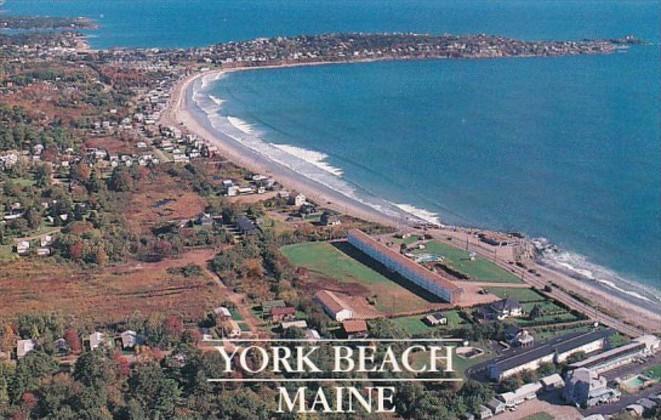 Maine York Beach Aerial View