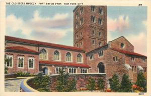 New York City~Fort Tryon Park~Cloisters Museum~1940s Postcard