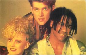Thompson Twins music band postcard