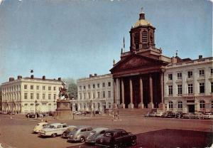 Belgium Bruxelles Place Royale, Brussel Royal Square Monument Vintage Cars Auto