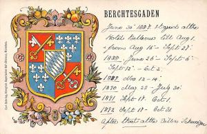 Heraldic postcard Kingdom of Bavaria Berchtesgaden coat of arms