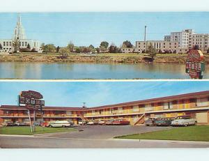 Unused Pre-1980 OLD CARS & DRIFTWOOD MOTEL Idaho Falls Idaho ID u7299-22