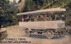 Tyrrell Trips, Portland OR, USA Bus Buses, Old Vintage Antique Post Card Post...