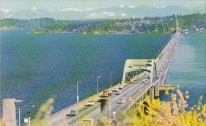 Lake Washington Floating Bridge Seattle Washington
