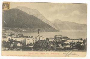 Gmunden und Traunsee vom Calvarienberg, Austria, PU-1905