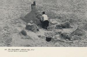 ATLANTIC CITY, New Jersey, 1901-07 ; The Sand Artist