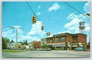 Brooklyn Michigan~Main Street~Weatherwax~Party Store~Bank~Water Tower~1970s PC