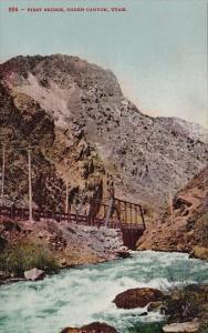 Utah Ogden Canyon First Bridge