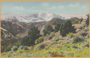 Colorado Springs, Colo., Pike's Peak, Alt. 14,109 ft -