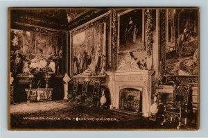 Windsor UK-United Kingdom, Windsor Castle The Presence Chamber, Vintage Postcard