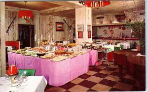 RIVERHEAD, L I  New York   HOTEL HENRY PERKINS Buffet  c1950s  Postcard