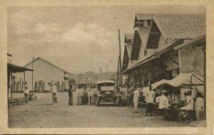 indonesia, BORNEO BANDJERMASIN, Passer Baroe, Old Car (1920s) Postcard