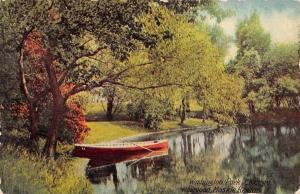Chicago Illinois~Washington Park~Moskie Region Lagoon~Rowboat~1910 Postcard