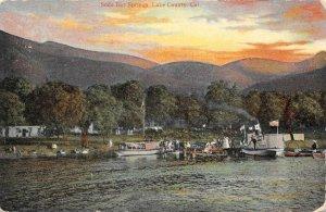 SODA BAY SPRINGS Lake County, California Clear Lake Vintage Postcard ca 1910s