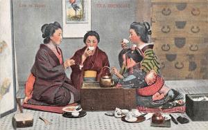 Life in Japan Geishas Drinking Tea Ceremony