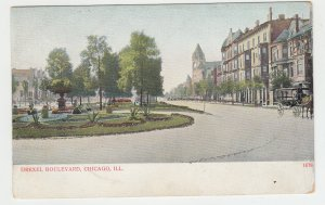 P2078, old postcard some gilitter drexel blvd chicago ill unused