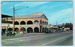 PARKER, AZ  Street Scene  GRAND VIEW HOTEL  c1950s Cars  Postcard