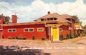 Webster Massachusetts Colonial Restaurant Exterior View Vintage Postcard J67191