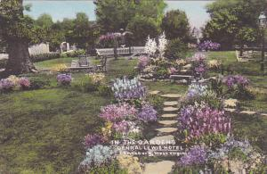 West Virginia Lewisburg The Gardens General Lewis Hotel Handcolored Albertype
