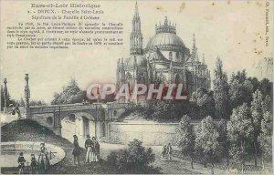 Old Postcard History Dreux Eure et Loir Chapelle Saint Louis Sepulture Family...