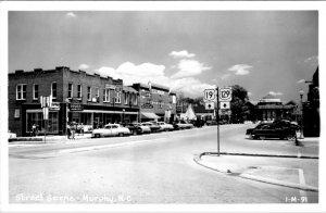 Murphy North N.C Vintage Gulf Gas Drug Store Ice Cream Dodge Car Dealer   - A20