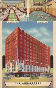 The Ambassador, Main Dining Room, Swimming Pool, Washington, D.C., 1930-1940s