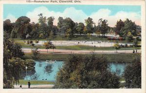 Rockefeller Park, Cleveland, Ohio, Early Postcard, Unused