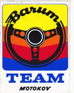 BARUM TEAM MOTOKOV AUTO MANUFACTURING LABEL CZECHOSLOVAKIA