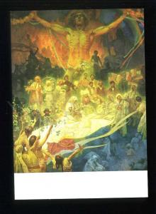208456 CZECH Alfons Mucha Apotheose Slavonic History postcard