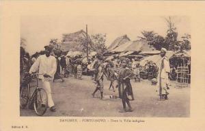 DAHOMEY ; 1910s , PORTO-NOVO.- Dans la Ville indigene , Bicycle