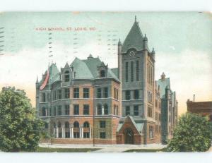 Divided-Back HIGH SCHOOL SCENE St. Louis Missouri MO E2482
