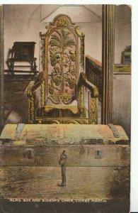 Devon  Postcard - Alms Box & Bishops Chair - Combe Martin - Ref 7307A