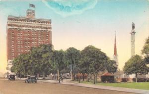 Charleston South Carolina~Francis Marion Hotel &Square~Hand-Colored Albertype