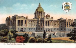 The Capitol, Harrisburg, Pennsylvania, early postcard, undivided back, unused