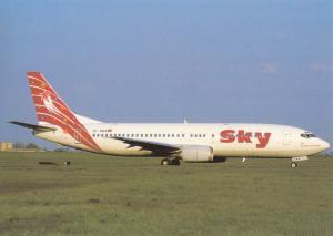 SKY AIRLINES, Boeing 737-4Y0, unused Postcard