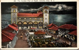 New Jersey Atlantic City The Garden Pier At Night