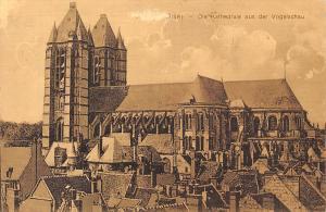 France Noyon Oise Die Kathedrale aus der Vogelschau Cathedral